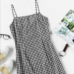 Gingham print cami dress